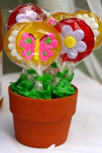 Lollipops for party guests.