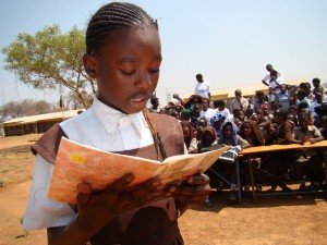 Girl Reading Aloud, Zambia
