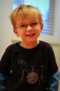 Oldest Baby Boy in His First Pair of Glasses - 2.5 years.