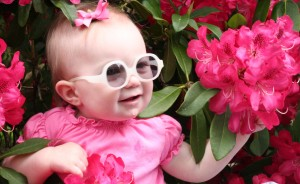 Baby Girl Showing Off Her Glasses - 9 months old.