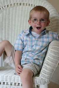 "Little Monster in His ""Big Boy Glasses"" - 3 years."