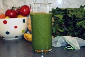 A delicious and healthy green smoothie