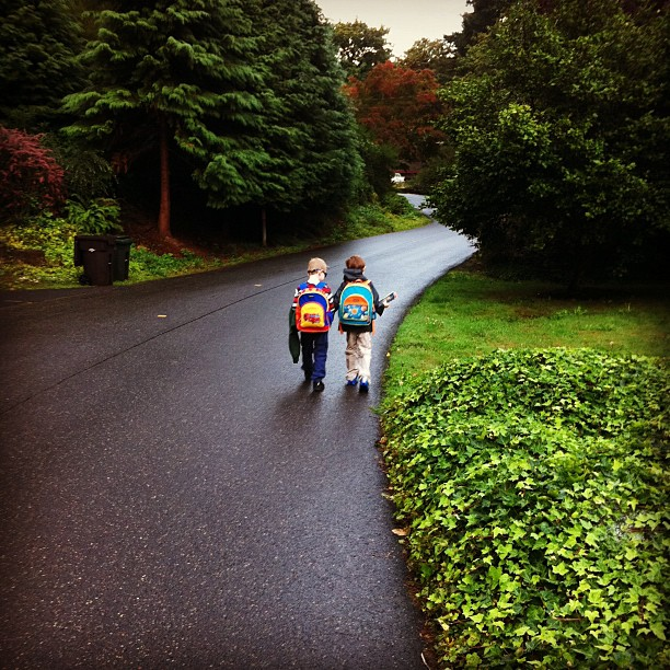 """On our way #walktoschool"""