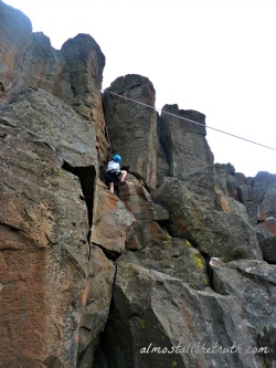 Almost All The Truth - Kid Climbing Basalt at Northern Point