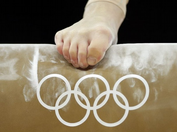 London Olympics Gymnast on Balance Beam