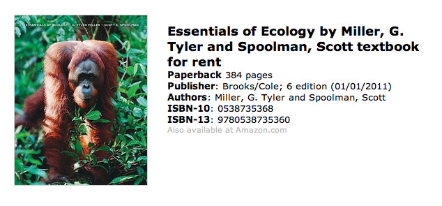 Essentials of Ecology Textbook