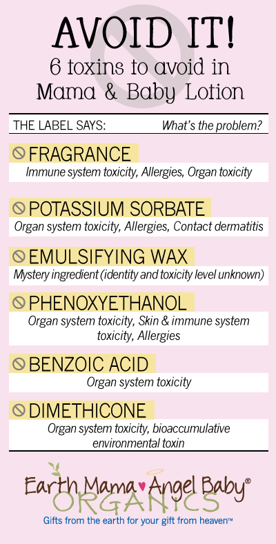 6 Toxins to Avoid in Mama and Baby Lotion